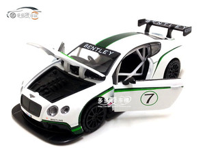 Image 3 - 2019 Hot 1:32 Bentley Continental GT3 Alloy samochodów Diecasts Model pojazdów wycofać dźwięk światła prezent kolekcja zabawki dla dzieci