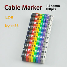 cable markers EC-0 EC-1 EC-2 Cable Wire Marker Number 0 to 9 Cable Size 1.5 sqmm mix Colored PVC cable markers insulation marker