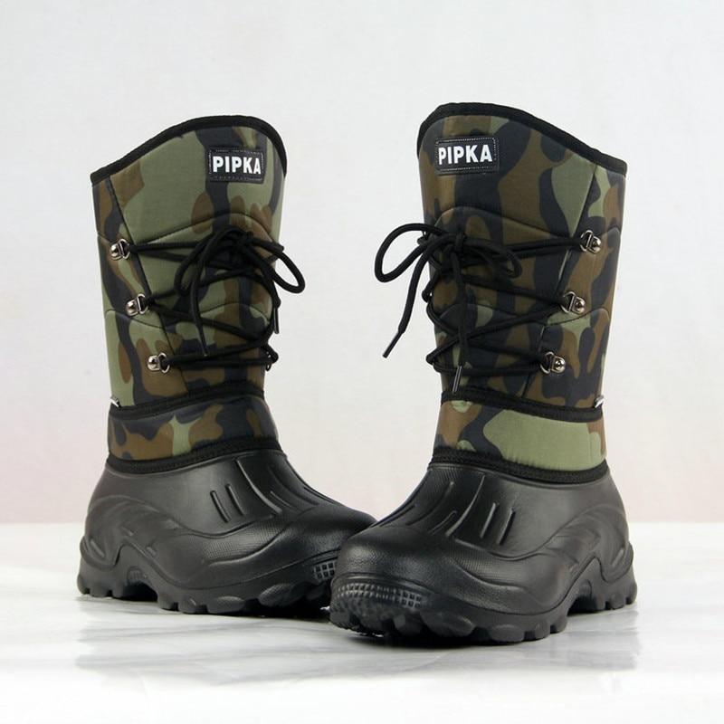 Non slip Warm Winter Fishing High Shoes