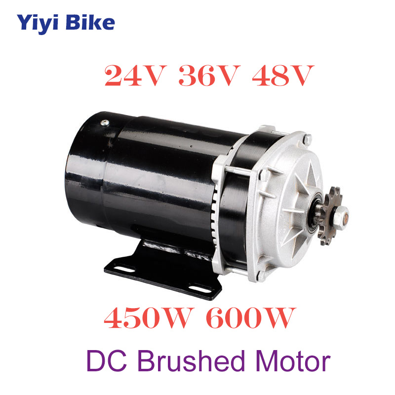 Wholesale Electric Bicycle Engine <font><b>24V</b></font> 36V 48V <font><b>450W</b></font> 600W <font><b>DC</b></font> Brushed Hub <font><b>Motor</b></font> For Electric Scooter Motorcycle Tricycle Conversion image