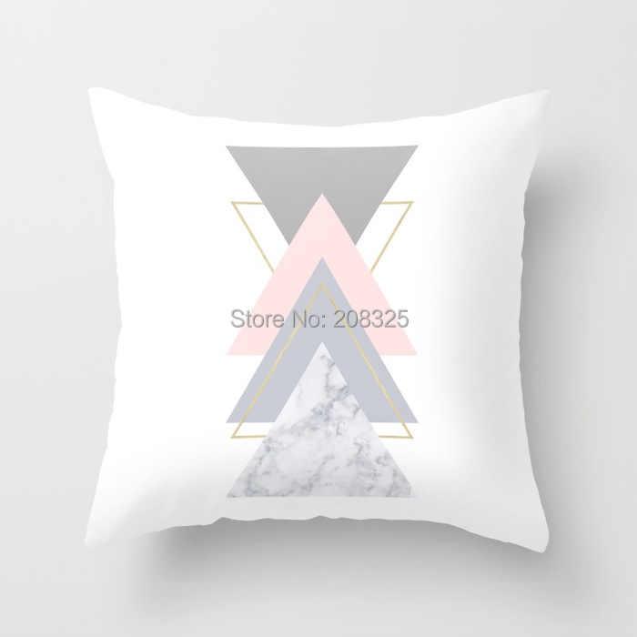 ZENGIA Rosa Geométrica Nórdico Trópico Abacaxi Caso Jogar Travesseiro Capa de Almofada de Poliéster Capa de Almofada Sofá Cama Travesseiro Decorativo