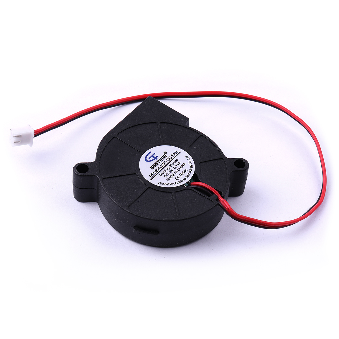 Hot Sale 1pcs DC <font><b>5V</b></font> 0.14A 1.75W 4.59CFM 51x51x15mm Rotating speed 5000RPM DC Turbine Brushless Cooling Blower <font><b>Fan</b></font> <font><b>Motor</b></font> image