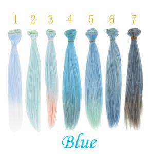 Image 4 - 1 pçs 25*100cm em linha reta de alta temperatura boneca perucas diy cabelo para sd para bjd 1/3 1/4 1/6 para bonecas acessórios
