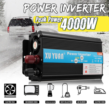 цена на Solar Inverter 12/24V 110/220V 4000W P eak Voltage Transformer Converter DC 12V To AC 220V Car Inverter Suitable For Car Battery