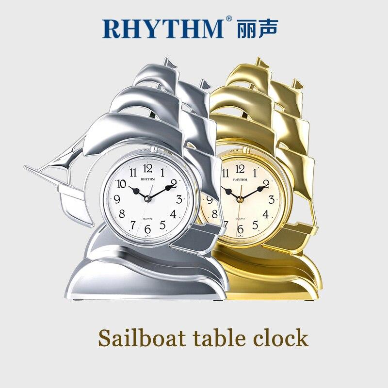 Horloge de table créative silencieuse et précise pour voilier