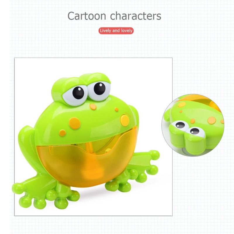 Baby Big Frogs Automatic Bubble Maker Blower Toy Music Bathtub Soap Machine Bubble Maker Blower Bath Toy For Baby