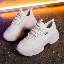 Women White Shoes Chunky Sneakers Woman Sport Casual Dad 2019 Spring basket femme Fenty Beauty Female Platform