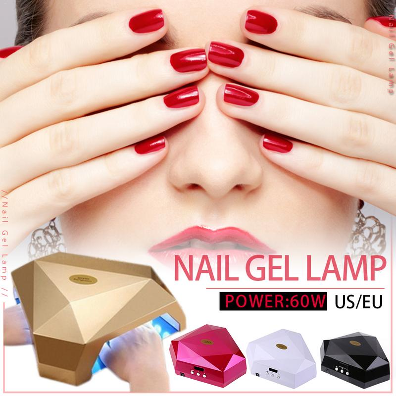 60 W LED UV lampe à ongles UV Gel vernis à ongles professionnel Machine à ongles sèche ongles ongles ongles ongles équipement de durcissement outil d'art des ongles