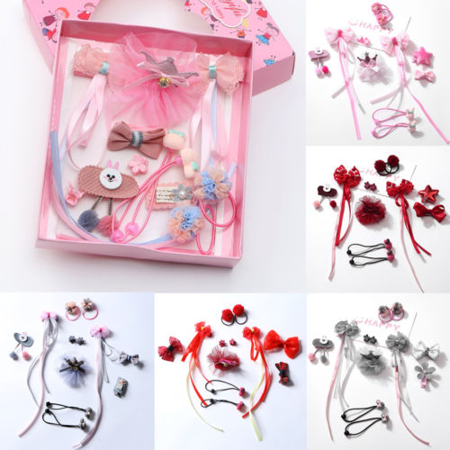 12Pcs/set Toddler Princess Hairpin Baby Girl Hair Clip Bow Flower Mini Barrettes Star Kids Infant Girls Floral Lace Headwear hot 6 colors 1pc girls lovely cat ear hairpin cute barrettes hairclips headwear hair accessories
