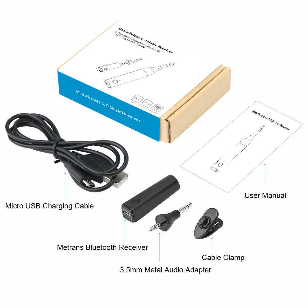 Bluetooth приемник автомобильный комплект стерео аудио Музыка Aux беспроводной мини 3,5 мм адаптер Handsfree авто для автомобиля для наушников телефона