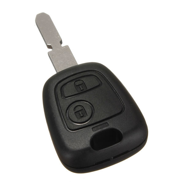 2 Button Auto Afstandsbediening Sleutel Shell Fob Case Blade Voor Peugeot 407 107 205 206 207 307 406