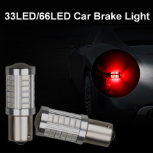 1156 BA15S 1157 BAW15S BAY15D 66 SMD 2835 LED White Red 12V Car P21W PY21W PR21W Brake Turn Tail Lights Signal Lamp