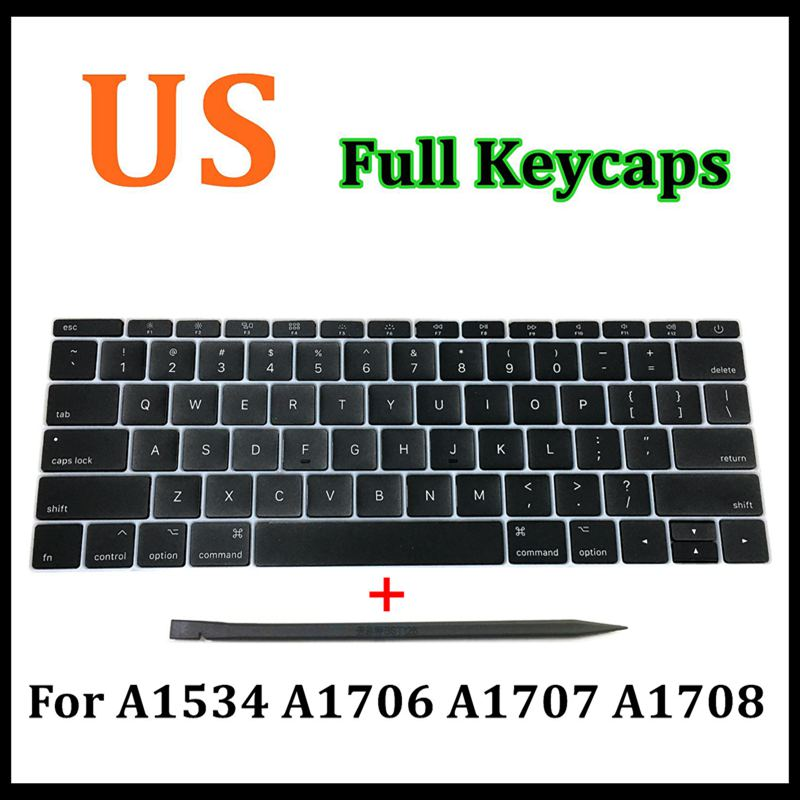 Faishao Full Set US Keyboard Key Cap Keycaps For Macbook Pro Retina 1315 A1706 A1707 A1708 2016-2017 12 A1534 2017 image