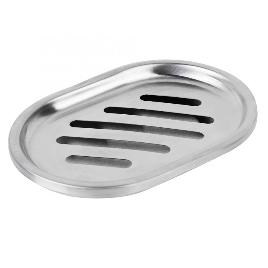 Stainless Steel Double Layer Soap Dish Soap Case Container With Large Draining