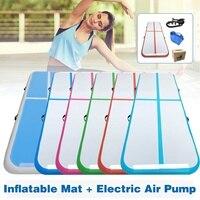 Yoga Mats 300cm*100cm*10cm Inflatable Tumble Track Trampoline Air Track Floor Home Gym Gymnastics Inflatable Air Tumbling Mat