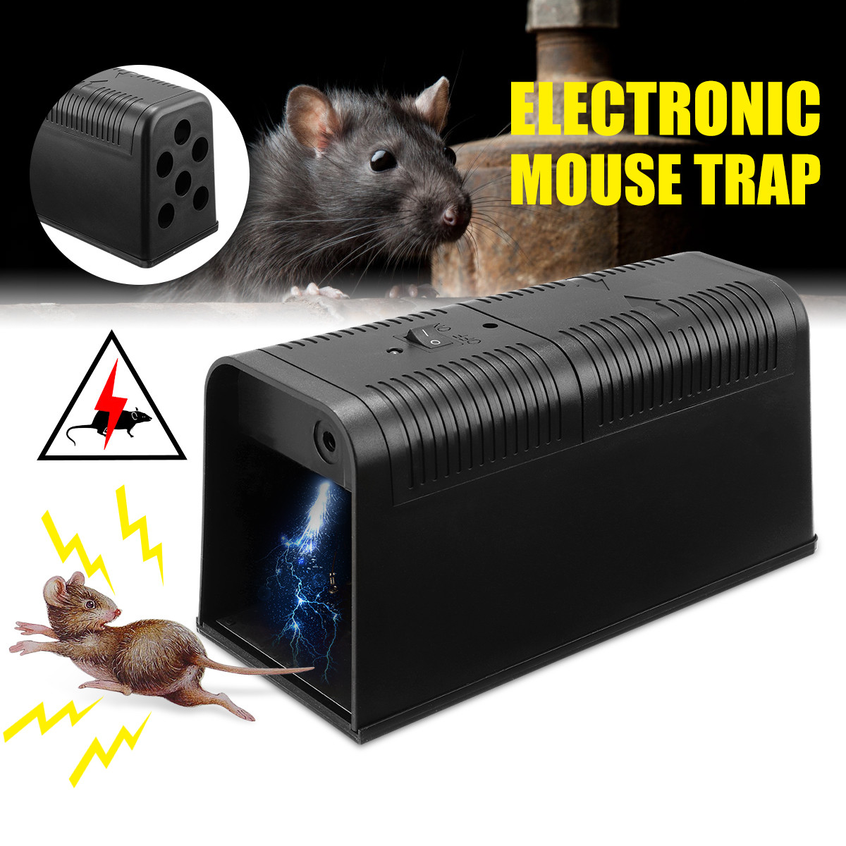 Electric Mouse Rat Trap Mouse Killer Electronic Rodent Mouse Zapper Trap Humane Rodent Mousetrap Device 235X102X113MM DC6VElectric Mouse Rat Trap Mouse Killer Electronic Rodent Mouse Zapper Trap Humane Rodent Mousetrap Device 235X102X113MM DC6V