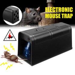 Elektryczna mysz pułapka na szczury zabójca myszy elektroniczna mysz gryzoni Zapper pułapka humanitarny gryzoni pułapka na myszy urządzenie 235X102X113MM DC6V w Pułapki od Dom i ogród na