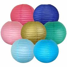 25colors Rust Proof 12/30CM Round Chinese Lanterns Hanging Paper Decorations For Festival Events Wedding Supplies
