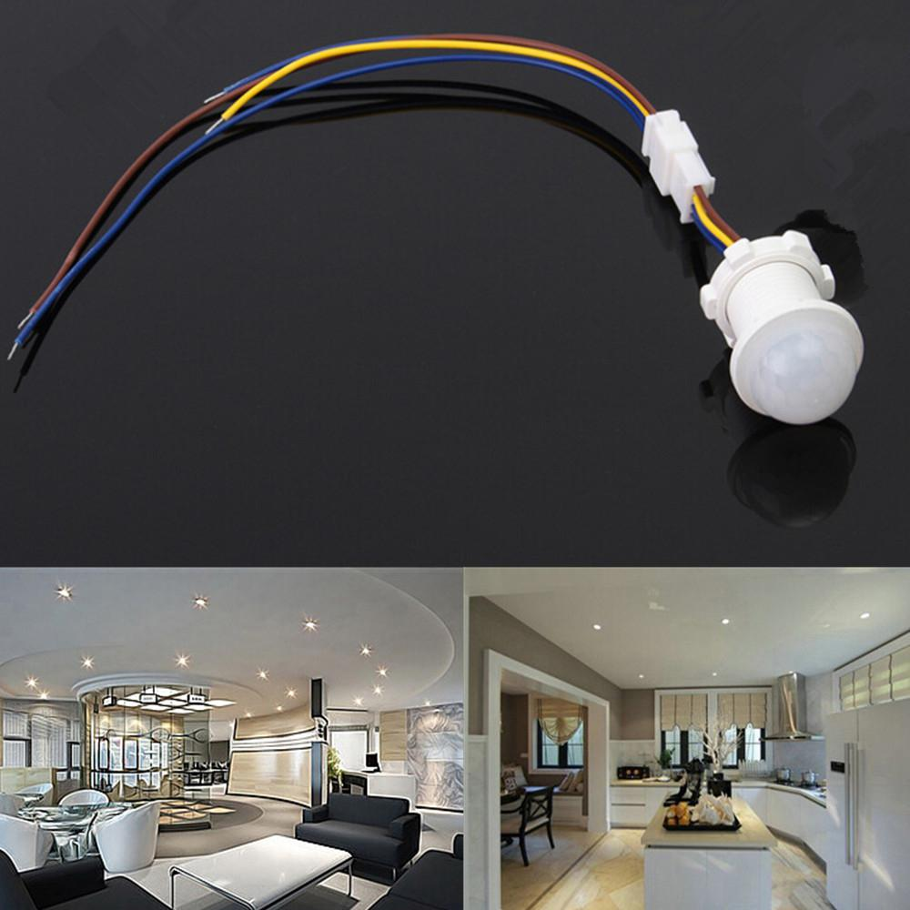 1PC Automatic Infrared Ray Motion Sensor LED Lamp Home Wall Ceiling Mounted Detector Switch