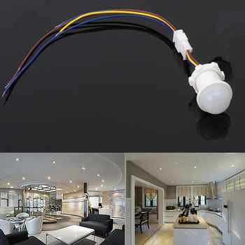 SOLLED 40mm Adjustable PIR Infrared Ray Motion Sensor Time Delay Adjustable Mode Detector Switch For Home Lighting LED Lamp