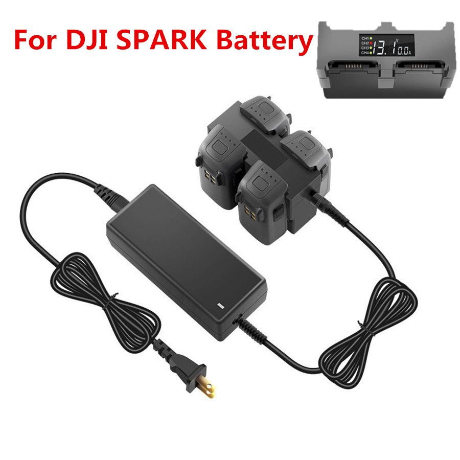 Battery Charger For DJI Spark Drone Parallel Fast Charging HubFOR DJISPARK 4 In 1 Intelligent Flight Battery Manager Spare Parts