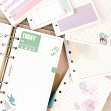 Refill-Papers Planner Grid Girly-Ii Blank 6-Hole binder-Organizer A6 for Ruled Mypretties