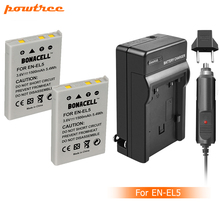 Powtree 2X 1500mah EN-EL5 ENEL5 EL5 Battery+charger for Nikon Coolpix P4 P80 P90 P100 P500 P510 P520 P530 P5000 P5100 5200 7900 стоимость