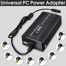 Universal 100W 8 In1 AC to DC in Car Plug With USB Port Cord Power Supply Charger Laptop