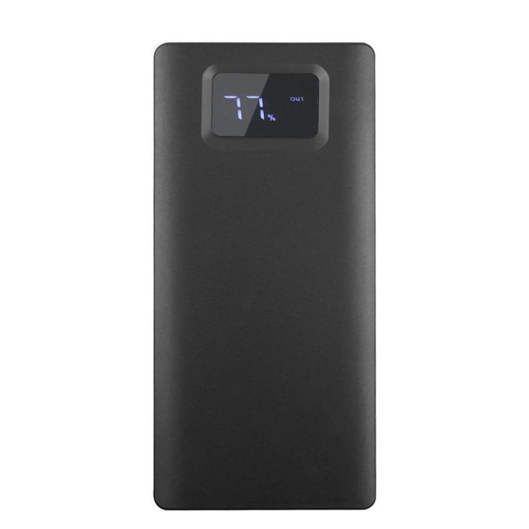 1A Power USB LED Portable 2A 190g 20000mAh External For Phone Battery Home Dual Travel Mobile Black etc Charger Outdoor