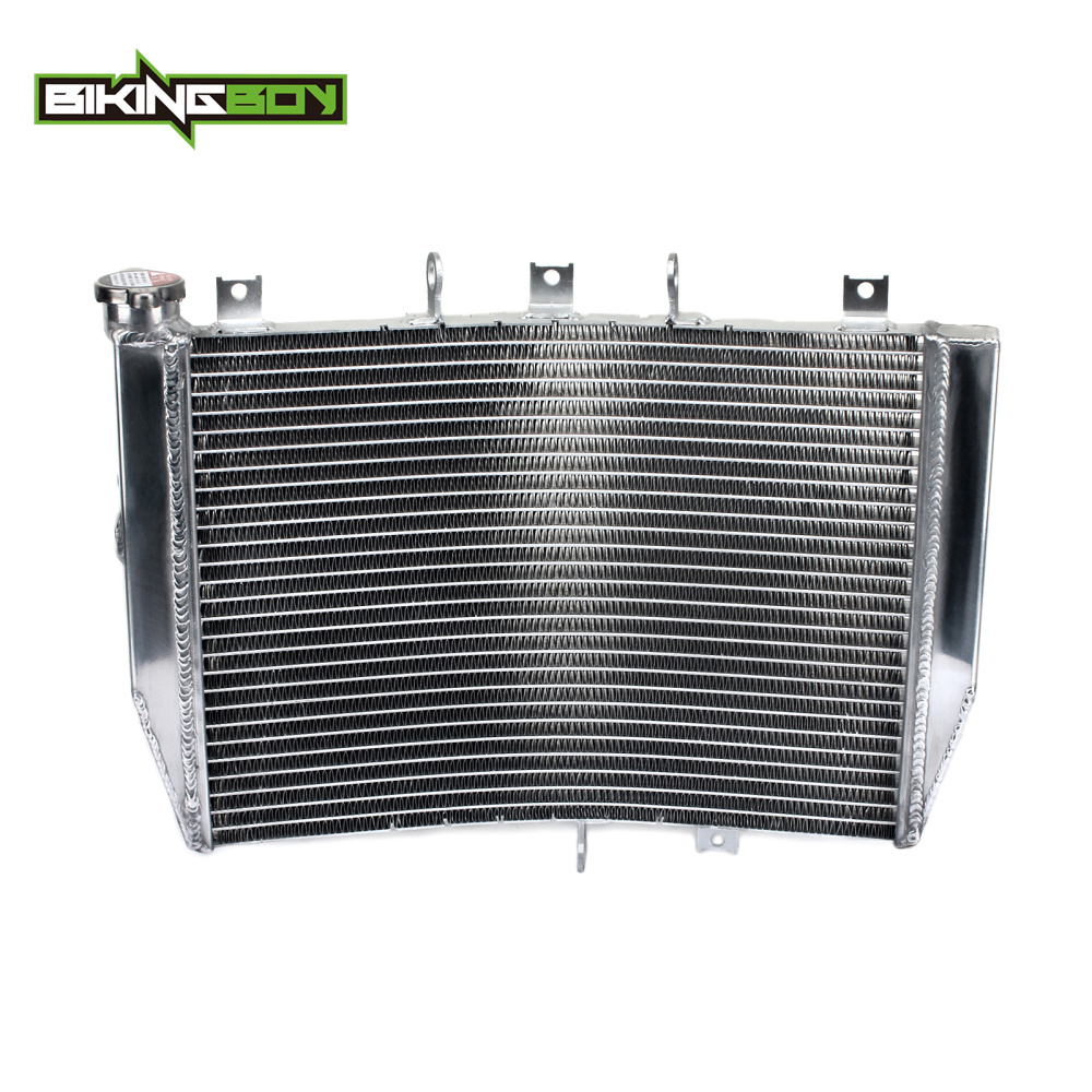 BIKINGBOY Motorcycle Aluminium Core Engine Radiator Cooler Water Cooling for Kawasaki ZX10R Ninja ZX 10R ZX