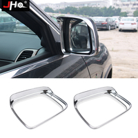 JHO Car Accessories ABS Chrome Side Wing Mirror Visor Bezel Cover Trim For Jeep Grand Cherokee 2014 19 2015 2016 2017 18 Limited