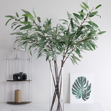 Lan Kwai Fong Artificial Flowers American 4 Fork Eucalyptus Leaves Simulation Plant Home Wedding Decoration European And America