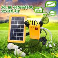 Solar Camping Kit Emergency Light and Mobile Phone Charger with Electric Generator Power Bank for Outdoor Garden Night Lighting