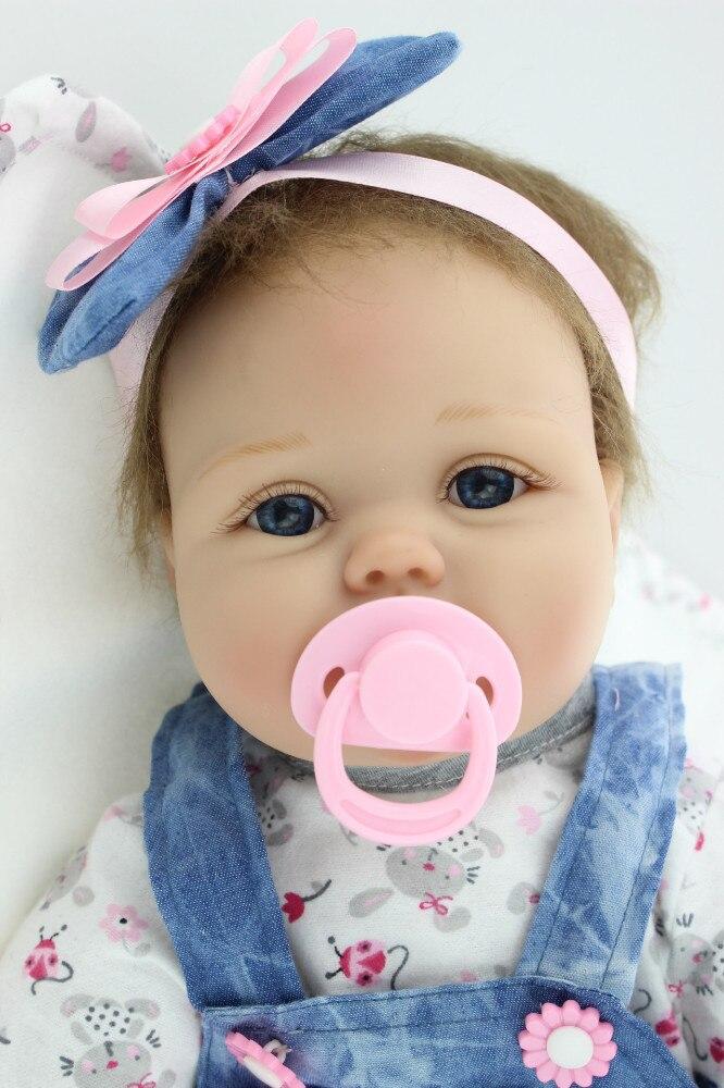23 ''muñecas de bebé Reborn realista lindo vestido de vaquero de moda muñecas para regalo de cumpleaños de princesa niños TC-in Muñecas from Juguetes y pasatiempos    1