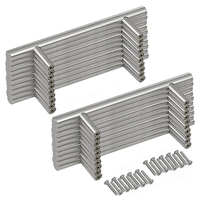 20pcs/set 128mm stainless steel Kitchen Door Cabinet T Bar Handle Pull Knob furniture handles silver cupboard drawer handle