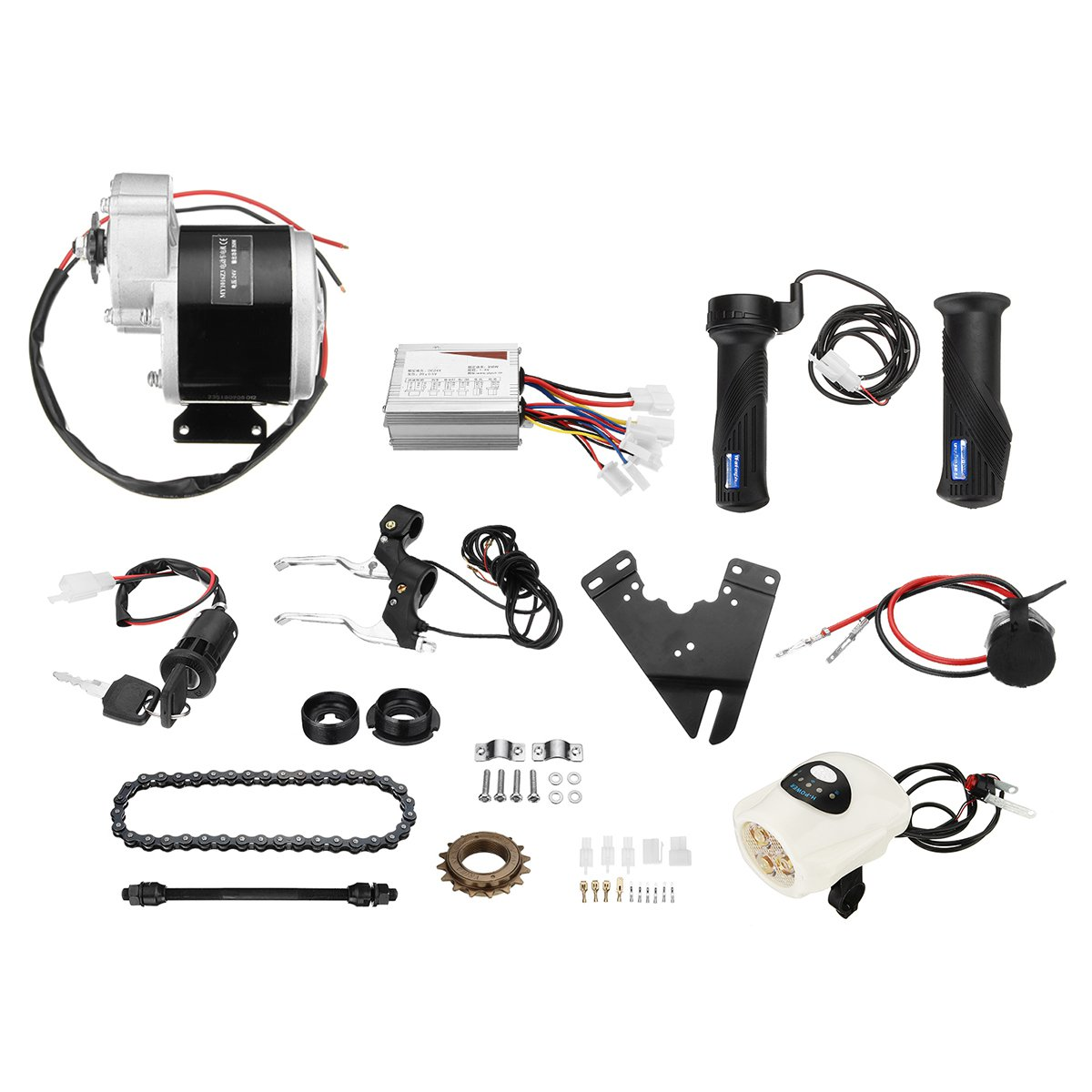 24V 350W Electric Bicycle Conversion Kit Brushed DC Motor For 22-28 Inch DIY Electric Bike Conversion Kit With Controller цена