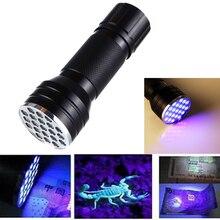 21LED F5 Ultraviolet Lamp LED UV Flashlight Ultraviolet Flashlight Torch Light Waterproof Ultra Violet Flash Light 395nm 410nm