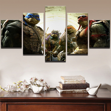 Canvas Abstract Pictures HD Print Wall Art Paintings Home Decor Framed 5 Panel Teenage Mutant Ninja Turtles Movie Poster .