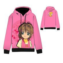 Hot  Anime Cardcaptor Sakura Cosplay Hoodies Standard Hooded Winter Tops Unisex cardcaptor funny Sweatshirts