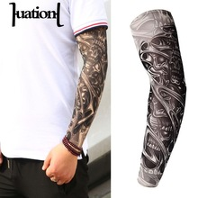 Huation 새 패션 Tattoo Sleeves 팔 Warmer Unisex 자외선 차단과 야외 임시 Fake Tattoo Arm Sleeve Warmer Sleeve 만화(China)