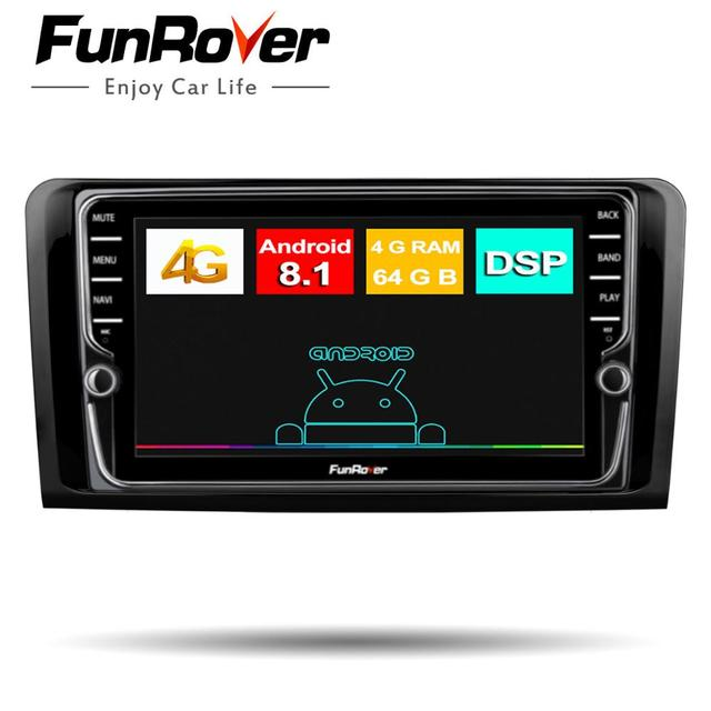 Funrover octa core android8.1 2 din car radio multimedia dvd gps for Mercedes Benz ML W164 GL X164 ML350 ML320 ML280 GL350 GL450