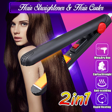 110-220V Mini Ceramic Electronic Hair Straightener,Curling I