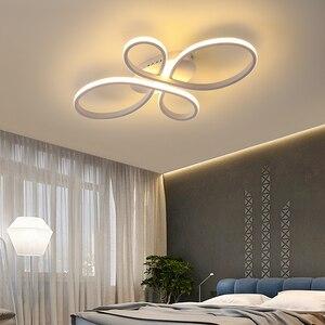 Image 3 - Новый Популярный светильник NEO Gleam с регулируемой яркостью для гостиной, спальни, кабинета, белого/кофейного цвета, потолочные светильники