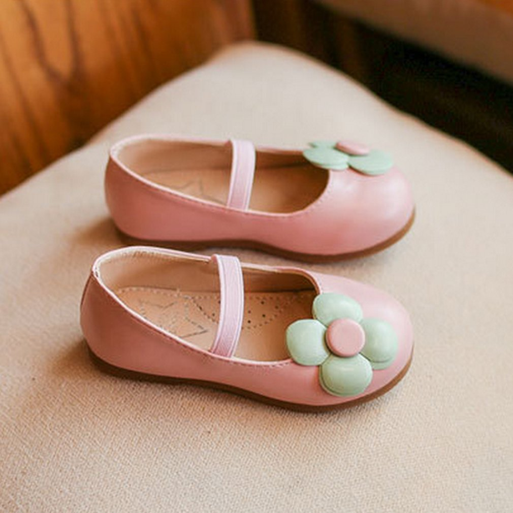 Childrens Flat Mary Jane Shoes With Low Cut Uppers School Girls Nude Shoes With -1489