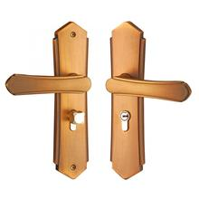 цены на Zinc Alloy Door Handle Lock Set Living Room Bathroom Door Lever Latch Home Security Lock Door Cabinet Locks  в интернет-магазинах