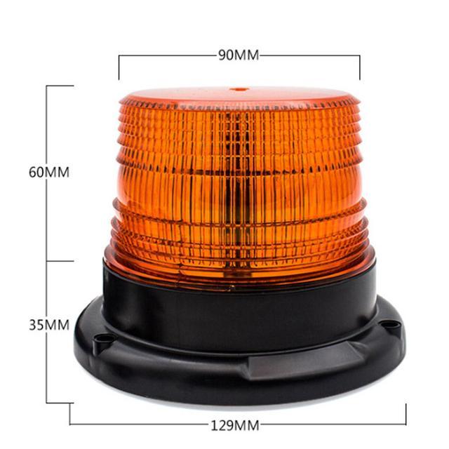 AKDSteel 12V/24V LED samochodów ciężarówka sygnalizator optyczny policja LED migające światła awaryjne lampa Beacon z magnetycznym zamontowany