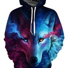 3D Wolf Printed Hoodie Men Women Cool Casual Sweatshirt Spri