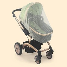 Baby Carriage Mosquito Net Cover Jacquard 1 Pack White For Stroller,Bassinet,Portable And Durable Baby Insect Netting,Infant B(China)