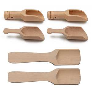 2 PCS Solid Wooden Powder Measuring Spoon Kitchen Accessory
