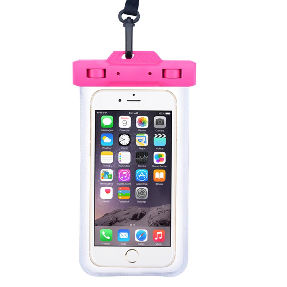 Waterproof Bag Mobile Phone Case For Iphone X 6 7 8p All Models 6 Inches Swimming Bag With Lanyard